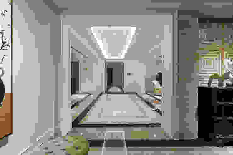 長廊過道 經典風格的走廊,走廊和樓梯 根據 漢品室內設計 古典風