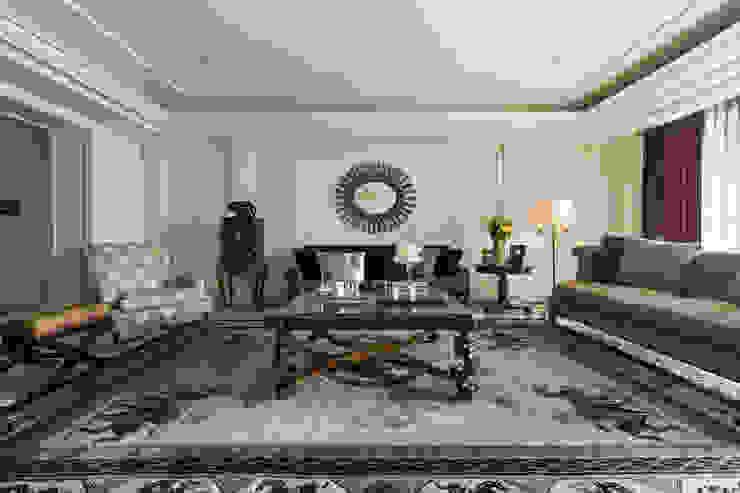 客廳 根據 漢品室內設計 古典風