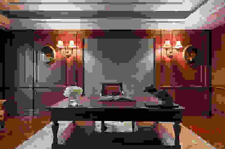 書房 根據 漢品室內設計 古典風