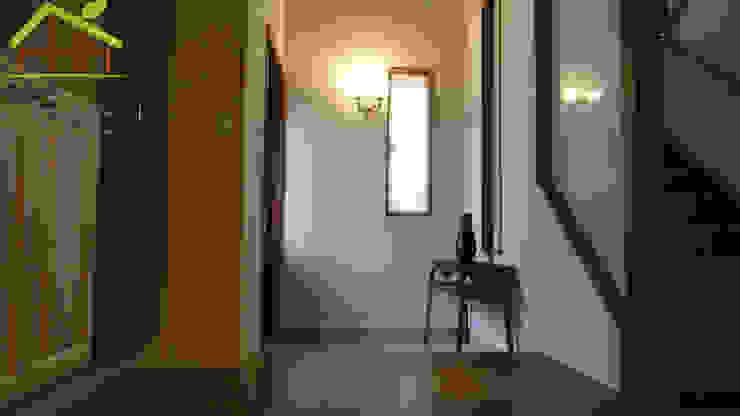 實品參觀屋-日式木結構-健康住宅 斯堪的納維亞風格的走廊,走廊和樓梯 根據 詮鴻國際住宅股份有限公司 北歐風