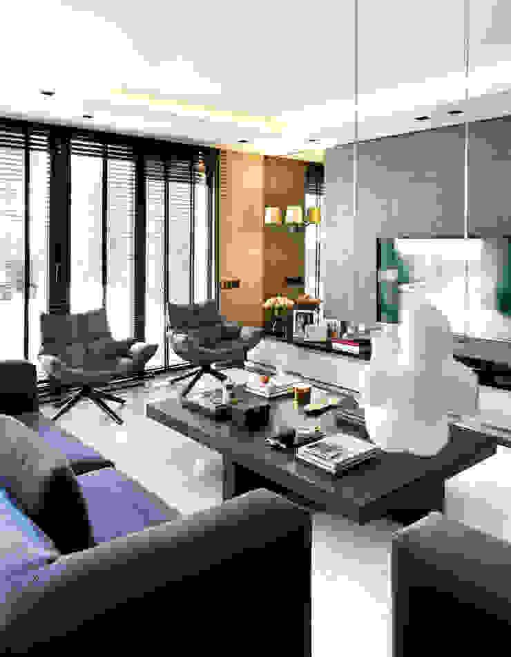 ISTINYE HOUSE Modern living room by Esra Kazmirci Mimarlik Modern Marble