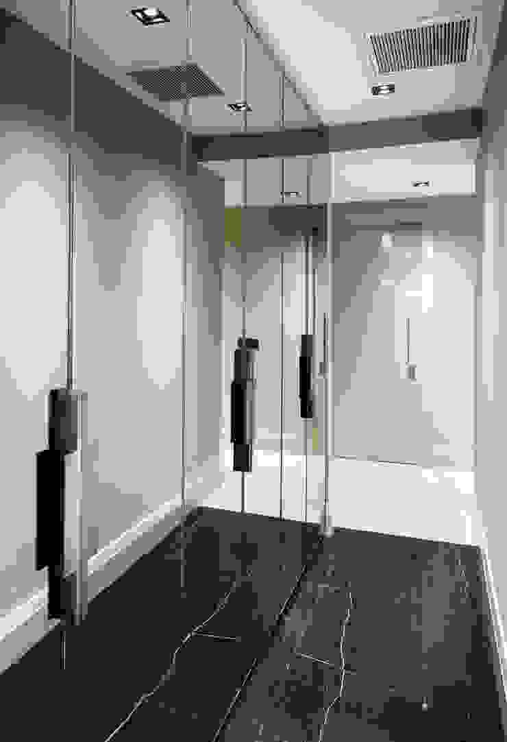 hall Modern corridor, hallway & stairs by Esra Kazmirci Mimarlik Modern