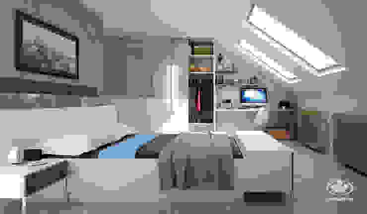 Komandor - Wnętrza z charakterem BedroomBeds & headboards Chipboard White