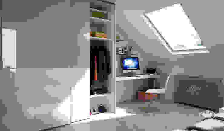 Komandor - Wnętrza z charakterem BedroomWardrobes & closets Glass Beige