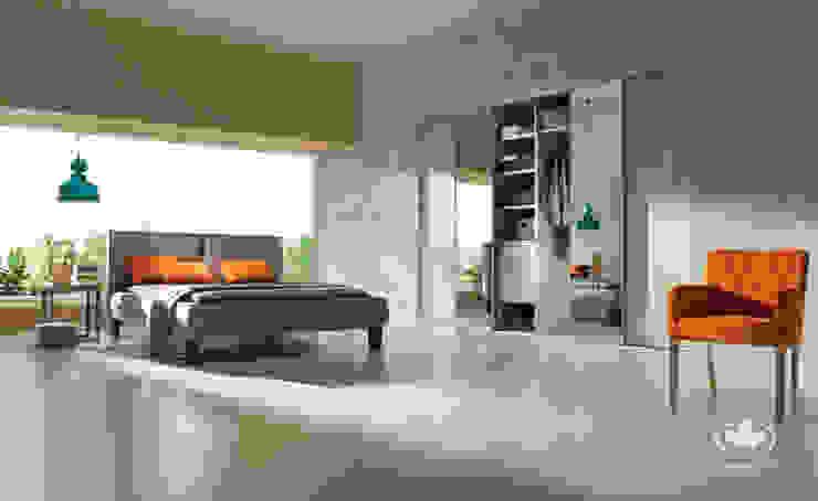 Komandor - Wnętrza z charakterem BedroomWardrobes & closets OSB Wood effect