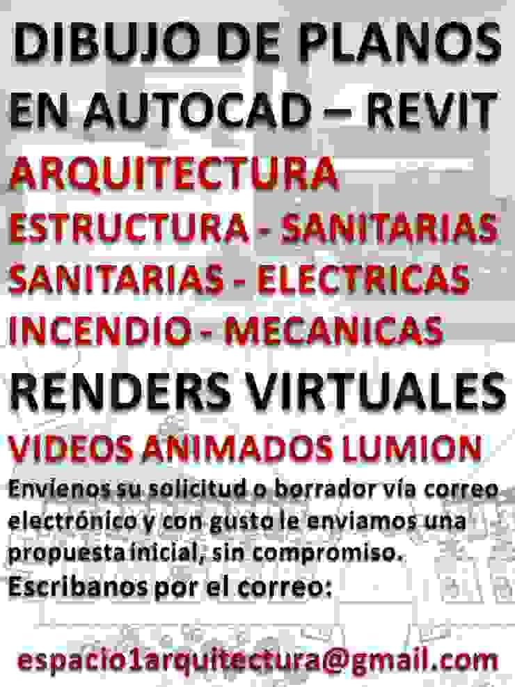 DRAWING OF PLANS 40 $ DELINEANTS DESIGNERS ARCHITECT PROJECTS RENDERS PHOTO-REALISM AT 100 $ VIRTUAL TOUR VIDEOS IN 400 $. LUMION Anexos de estilo moderno de Espacio 1 Arquitectura c.a. Moderno Concreto