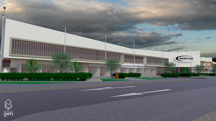 Propuesta Strip Center Pedro Fontova, Huechuraba de Gen Arquitectura & Diseño Moderno