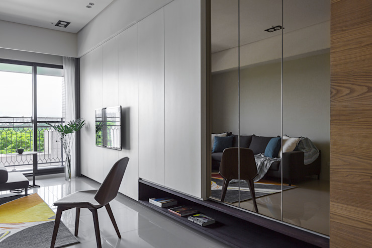 賀澤室內設計 HOZO_interior_design 现代客厅設計點子、靈感 & 圖片 根據 賀澤室內設計 HOZO_interior_design 現代風