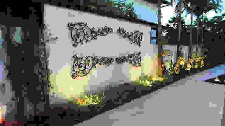 Luiz Coelho Arquitetura Vườn phong cách hiện đại Beige