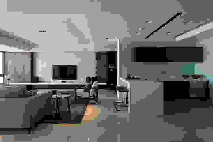 永和徐宅 现代客厅設計點子、靈感 & 圖片 根據 大觀室內設計工程有限公司 現代風
