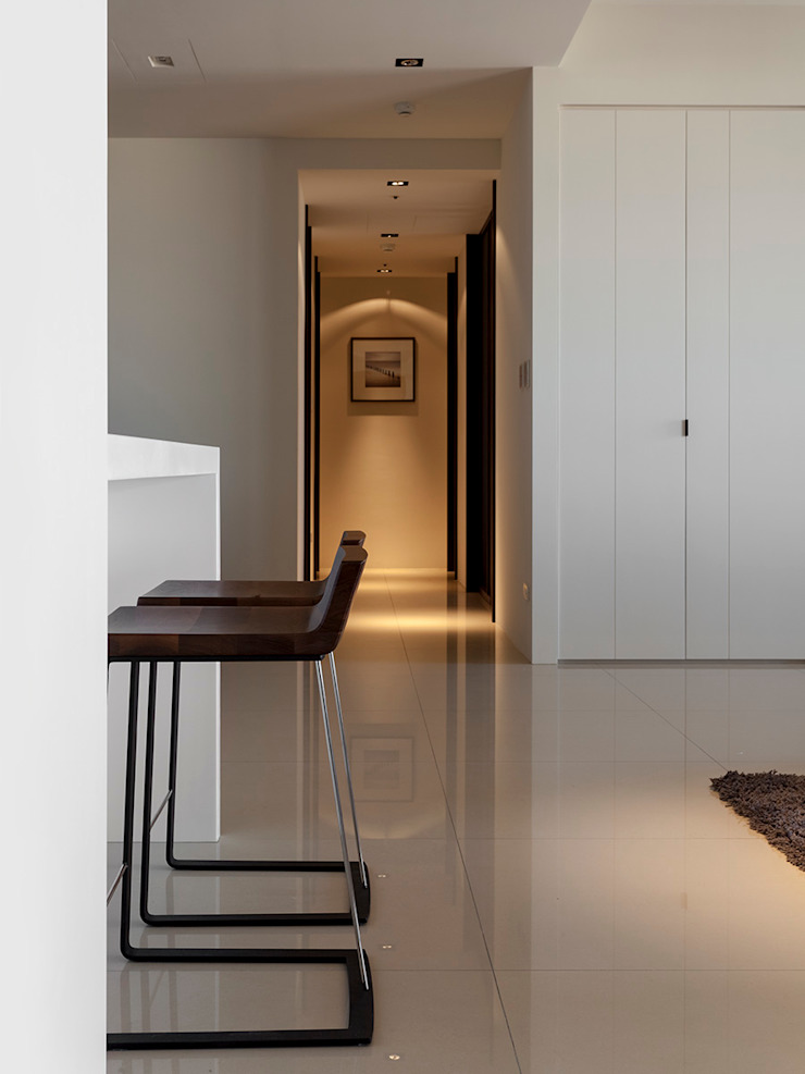 永和徐宅 現代風玄關、走廊與階梯 根據 大觀室內設計工程有限公司 現代風