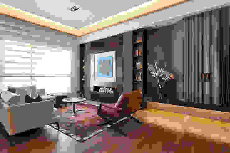 上河園 现代客厅設計點子、靈感 & 圖片 根據 大觀室內設計工程有限公司 現代風