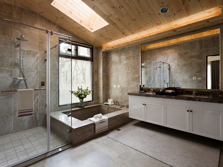 Baños de estilo  de 大觀室內設計工程有限公司