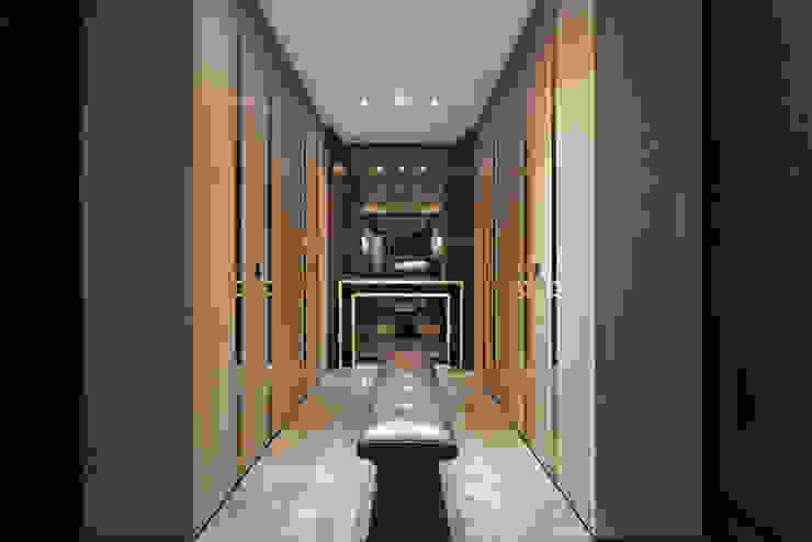 林口楊宅 現代風玄關、走廊與階梯 根據 大觀室內設計工程有限公司 現代風