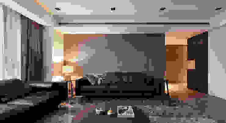 林口楊宅 现代客厅設計點子、靈感 & 圖片 根據 大觀室內設計工程有限公司 現代風