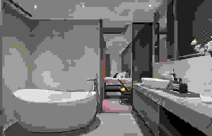 林口楊宅 現代浴室設計點子、靈感&圖片 根據 大觀室內設計工程有限公司 現代風
