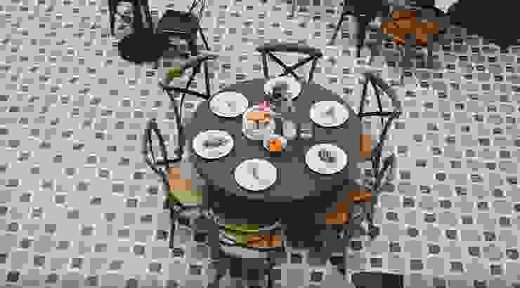 Mesa para 6 Sisal Gastronomía de estilo moderno Madera Marrón