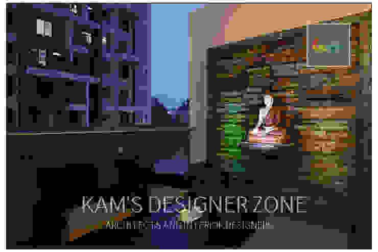 Apartment in Pharande L- Axis Modern balcony, veranda & terrace by KAM'S DESIGNER ZONE Modern