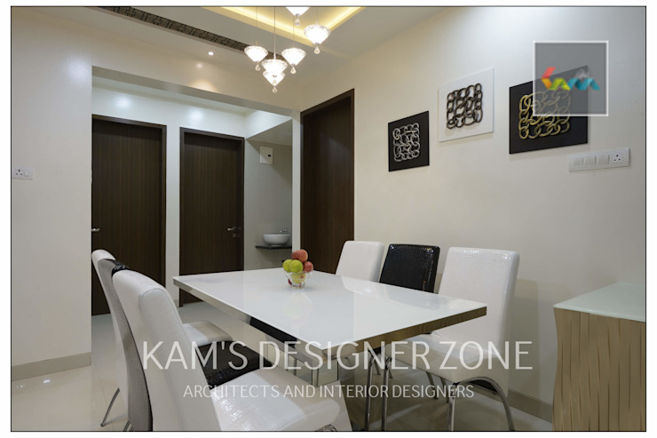 Apartment in Pharande L- Axis Modern dining room by KAM'S DESIGNER ZONE Modern