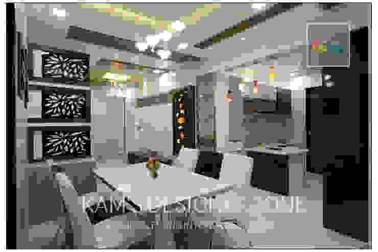 Apartment in Pharande L- Axis Modern kitchen by KAM'S DESIGNER ZONE Modern