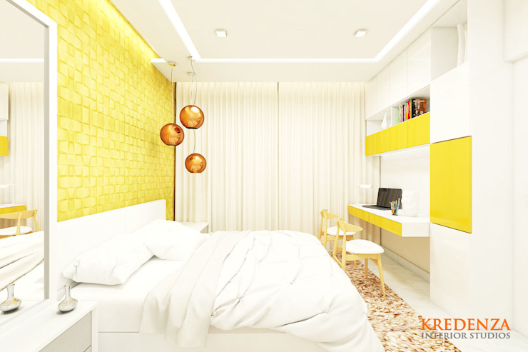 Son's Bedroom Modern style bedroom by Kredenza Interior Studios Modern