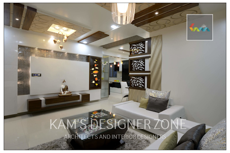 Living Room Design Modern living room by KAM'S DESIGNER ZONE Modern