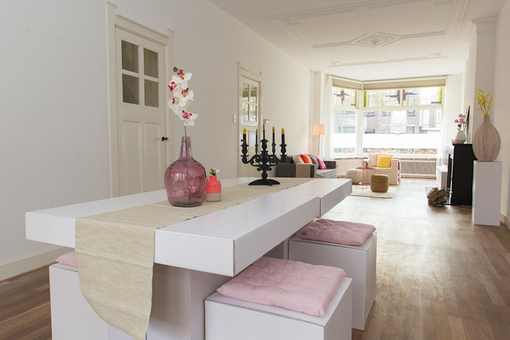 Eetkamer van karton van casa&co. Eclectisch Papier