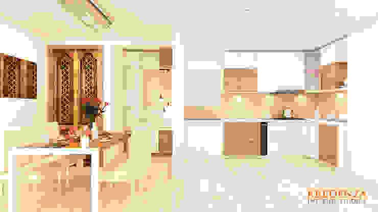 Kitchen & Dining Modern kitchen by Kredenza Interior Studios Modern