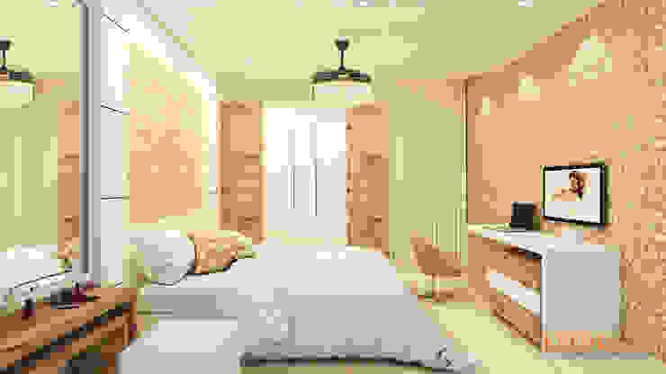Master Bedroom Modern style bedroom by Kredenza Interior Studios Modern
