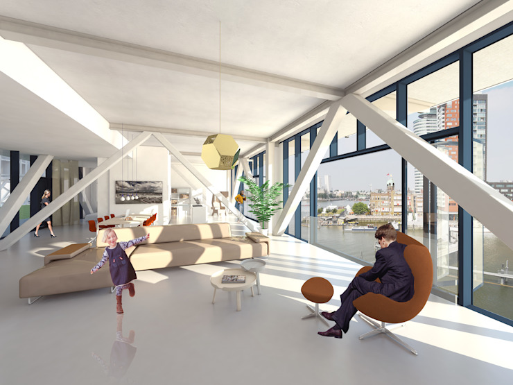 Fenix I Moderne woonkamers van Mei architects and planners Modern