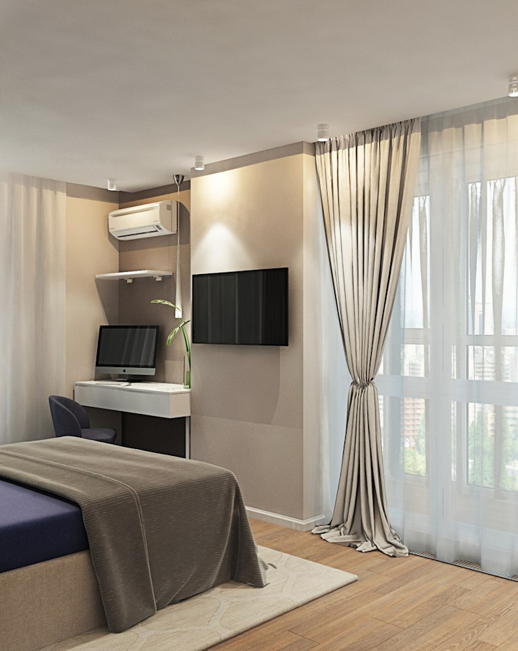 ДизайнМастер Eclectic style bedroom White