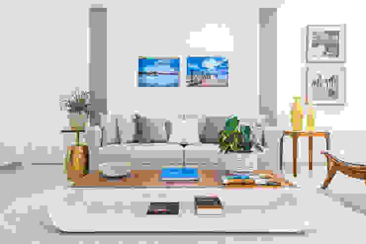 Rita Albuquerque Arquitetura e Interiores 现代客厅設計點子、靈感 & 圖片 Beige
