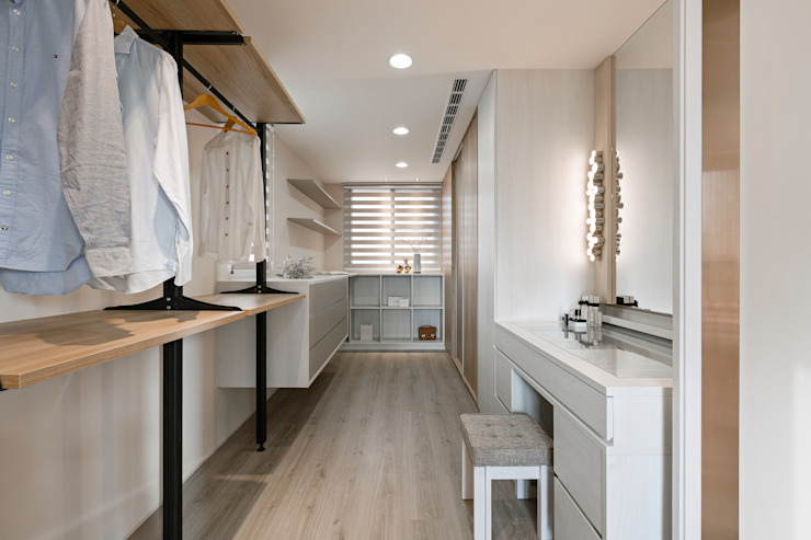 Dressing room by 賀澤室內設計 HOZO_interior_design, Eclectic