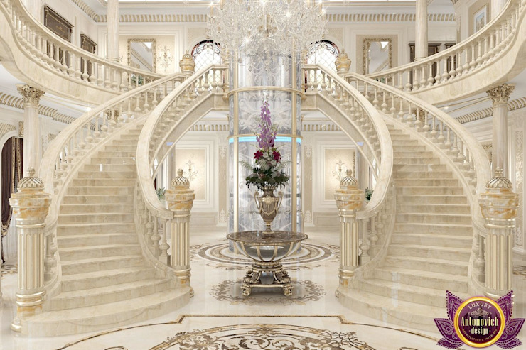 ​New era of luxury from Katrina Antonovich Classic style corridor, hallway and stairs by Luxury Antonovich Design Classic