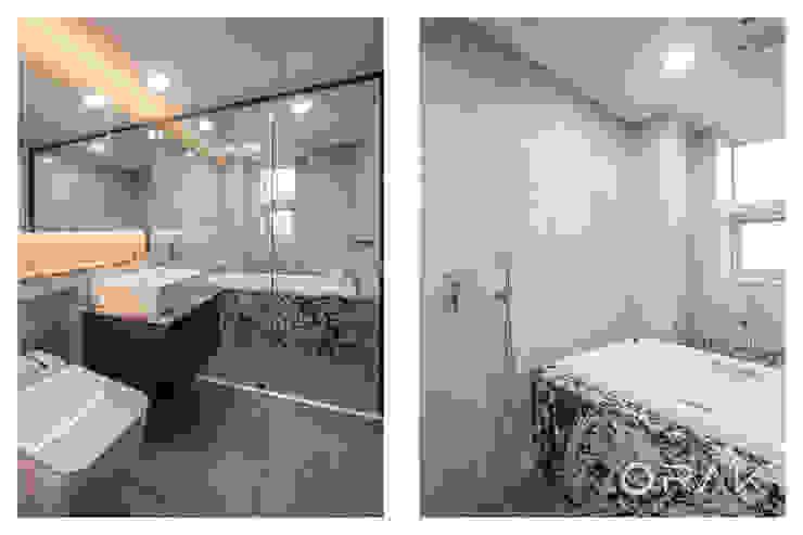도곡동 롯데캐슬모닝아파트 / 52평형 아파트 인테리어 모던스타일 욕실 by 오락디자인 모던