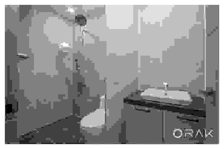 월곡동 두산위브 아파트 / 33평형 아파트 인테리어 모던스타일 욕실 by 오락디자인 모던