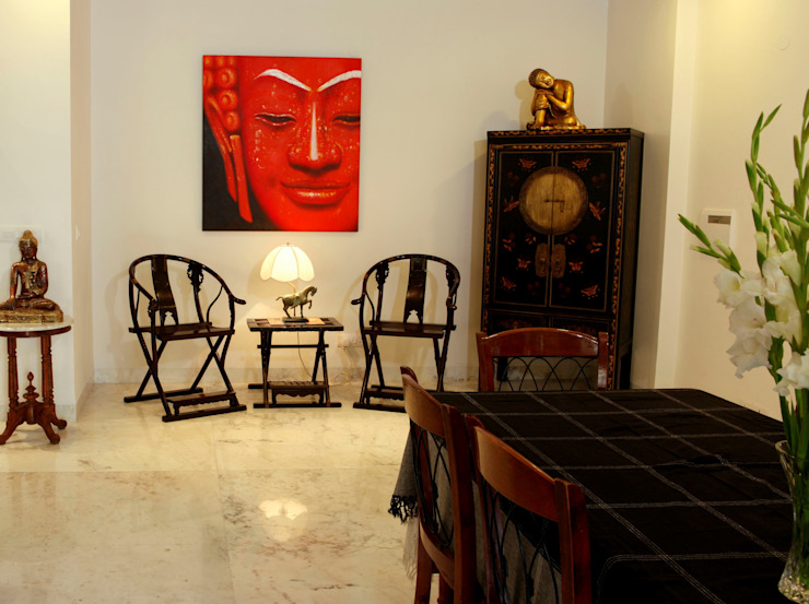 An apartment in Central Park 1, Gurgaon Modern dining room by stonehenge designs Modern