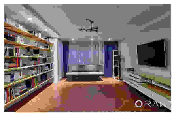 사당동 우성아파트 2차 / 35평형 아파트 인테리어 모던스타일 거실 by 오락디자인 모던
