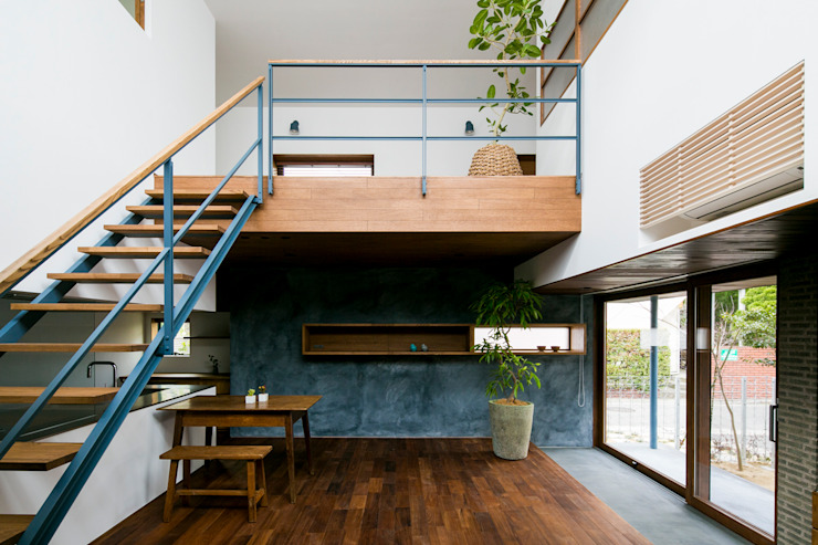 Scandinavian style living room by group-scoop architectural design studio Scandinavian Solid Wood Multicolored