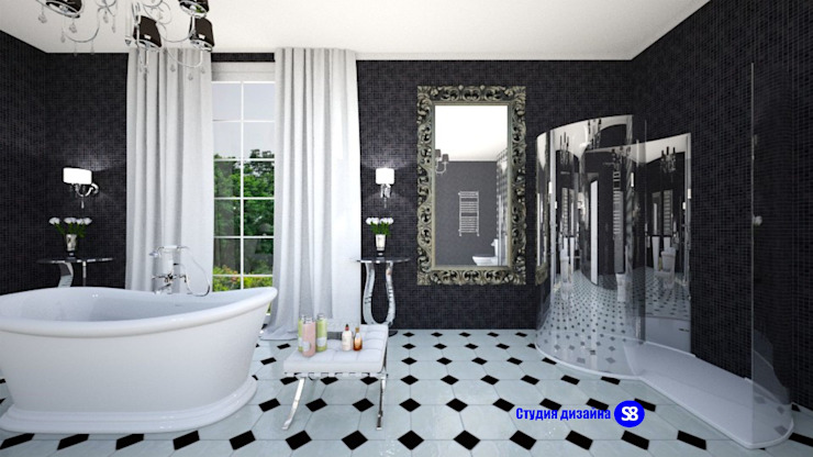Bathroom in art deco style Classic style bathroom by 'Design studio S-8' Classic