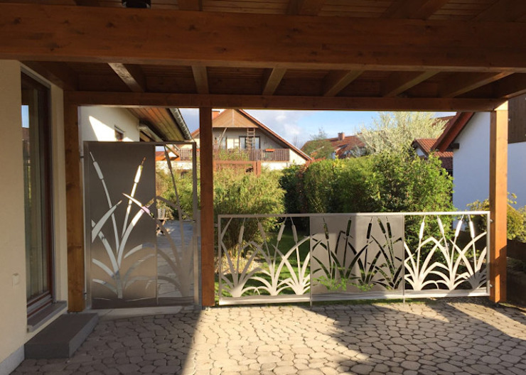 Edelstahl Atelier Crouse - individuelle Gartentore:  tarz Bahçe,
