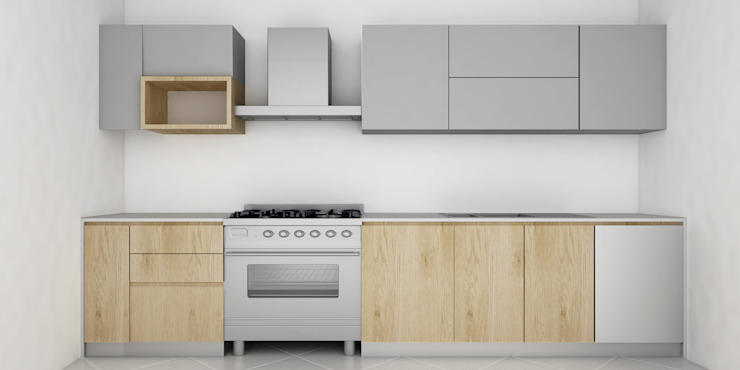 現代廚房設計點子、靈感&圖片 根據 FIDEA SRL 現代風 木頭 Wood effect