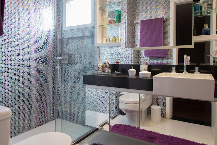 Espaço Alessandra Luz Casa & Jardim Eclectic style bathroom
