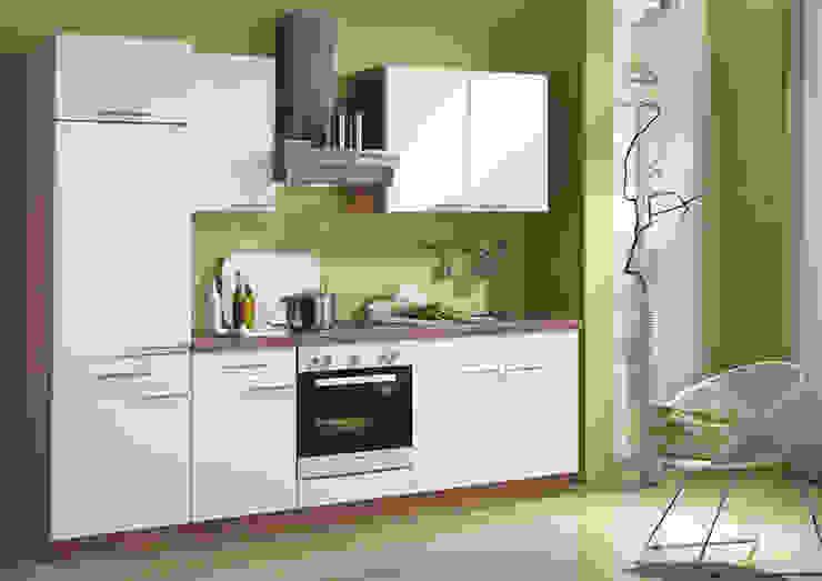 Küchengestaltung mit Griffen, Glastüren, Korpusfarbton und Arbeitsplatten-Dekor network Küchen | gute Küchen ...günstig KücheSchränke und Regale Weiß