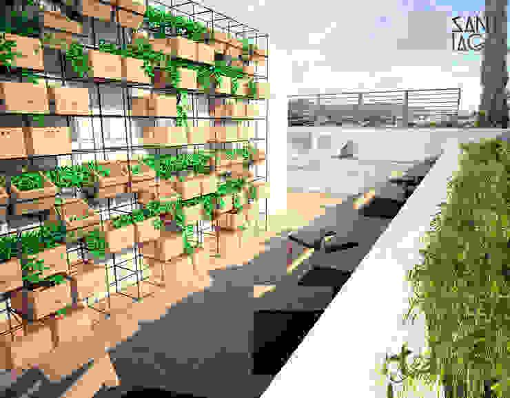 Terrazas de estilo  por SANT1AGO arquitectura y diseño, Minimalista