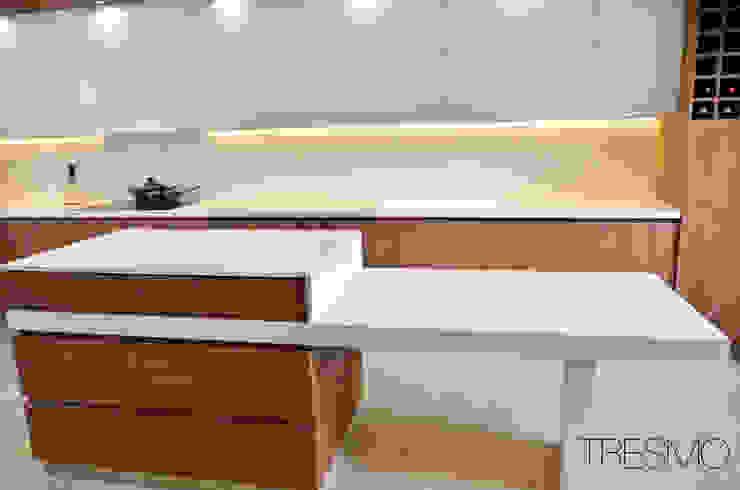 COCINA POZO – LO BARNECHEA de Mobiliarios y Proyectos Tresmo Ltda Minimalista