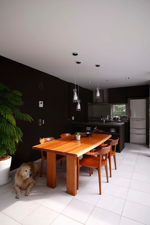 Salas de jantar modernas por 藤井伸介建築設計室 Moderno