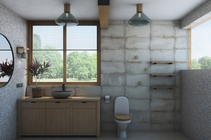 Industrial style bathrooms by Artcrafts Industrial