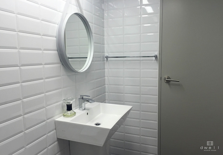 이촌동 'J' 아파트 스칸디나비아 욕실 by 드웰디자인 북유럽
