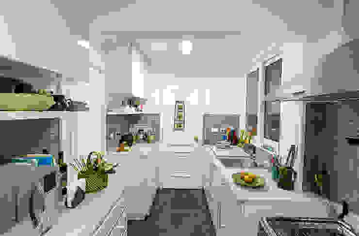 Remodelación Departamento Los Estanques Cocinas de estilo moderno de Grupo E Arquitectura y construcción Moderno